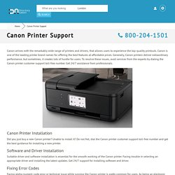 Canon Printer Support 800-204-1501 Customer Service Toll-free Number
