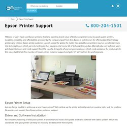 Epson Printer Support 800-204-1501 Customer Service Toll-free Number