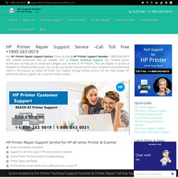 HP Printer Repair Support Service -1800-243-0019 HelpDesk