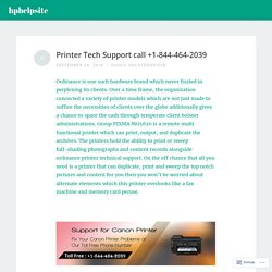 Printer Tech Support call +1-844-464-2039 – hphelpsite