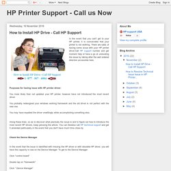 How to Install HP Drive - Call HP Support