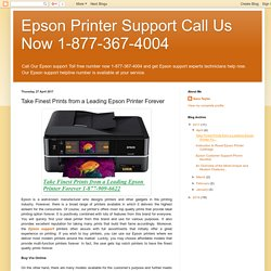 Take Finest Prints from a Leading Epson Printer Forever
