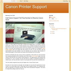 Call Canon Support Toll Free Number to Resolve Canon issue