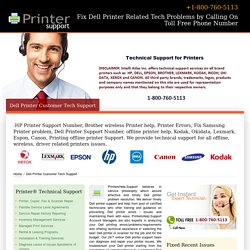 Dell Printers Help Number