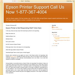 Epson Printer is Not Responding Well? Click Here