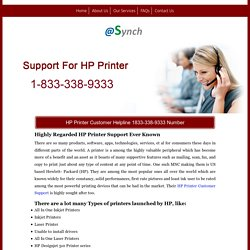 HP Printer Support 1833-338-9333 Service Contact Number