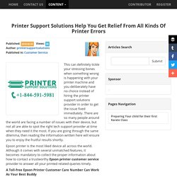 Printer Support Solutions Help You Get Relief From All Kinds Of Printer Errors