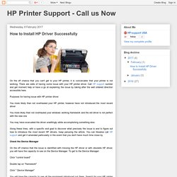 How to Install HP Driver Successfully