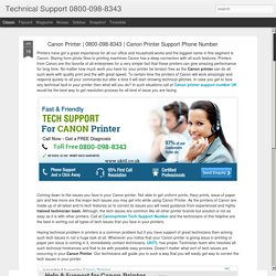 Technical Support 0800-098-8343: Canon Printer