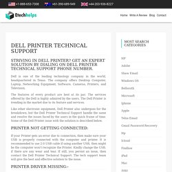 Dell Printer Technical Support