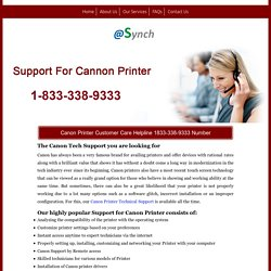Canon Printer Technical Support 1833-338-9333 Service Number