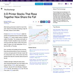 3-D Printer Stocks That Rose Together Now Share the Fall