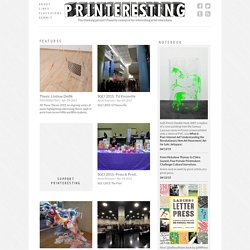 PRINTERESTING · The thinking person's favorite online resource for interesting printmaking miscellany.