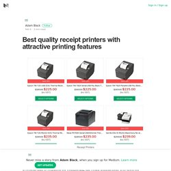 Best quality receipt printers with attractive printing features