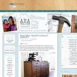 Build a Printers Triple Console Cabinet