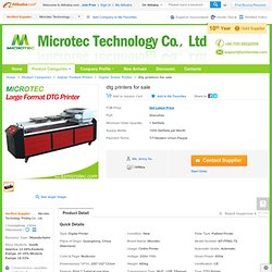 dtg printers for sale, View dtg printers for sale, Microtec Product Details from Microtec Technology Printing Co., Ltd. on Alibaba.com