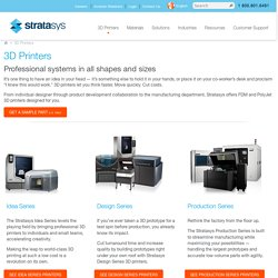 3D Printers & 3D Production Systems | Stratasys Products