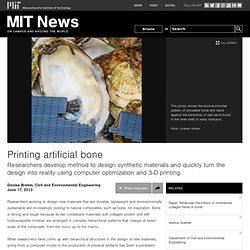 Printing artificial bone