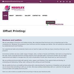 Brochure printing services in Dubai