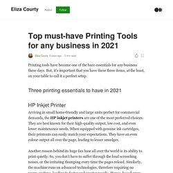 Top must-have Printing Tools for any business in 2021