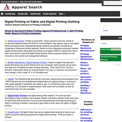 Digital Printing on fabric and clothing for fashion industry