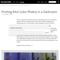 Printing RA4 Color Photos in a Darkroom