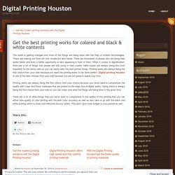 Get the best printing works for colored and black & white contents
