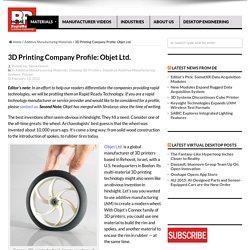 3D Printing Company Profile: Objet Ltd. - Rapid Ready Technology