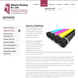 Digital Printing Calgary: Improve Customer Response & Retention