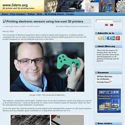 Printing electronic sensors using low-cost 3D printers
