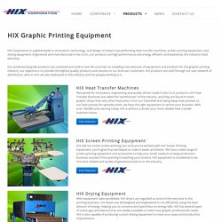 Graphic Printing Equipment - HIX Corporate SiteHIX Corporate Site