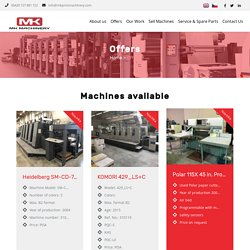 Used Printing Machines and Equipments