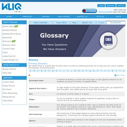 A to Z of Printing Terms Explained – KliqPrint Glossary