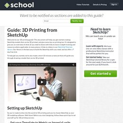 3D Printing from SketchUp