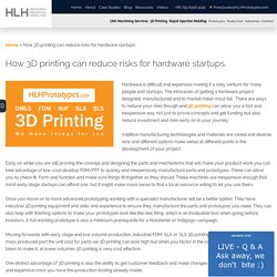 How 3D printing can reduce risks for hardware startups. - HLH Prototypes Co Ltd