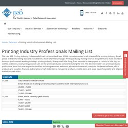Printing Industry Mailing Addresses