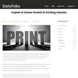 Impact of Career Growth in Printing Industry