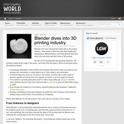 Blender dives into 3D printing industry