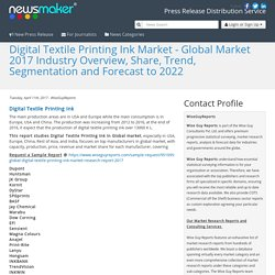Digital Textile Printing Ink Market - Global Market 2017 Industry Overview, Share, Trend, Segmentation and Forecast to 2022