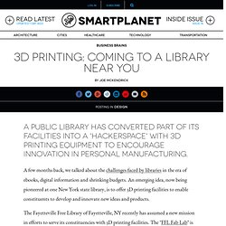 3D printing: coming to a library near you