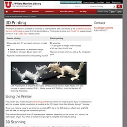 3D Printing - Marriott Library - The University of Utah