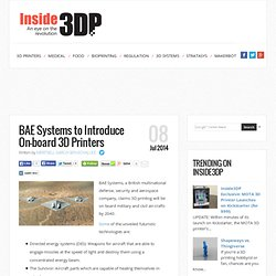 BAE Systems to Use 3D Printing to Beef Up its Military Technology