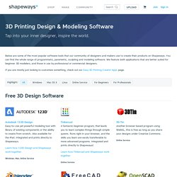 3D Printing Design & Modeling Software