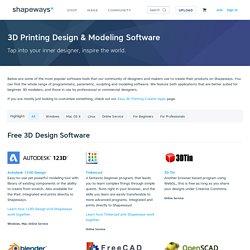 3D Printing Design & Modeling Software
