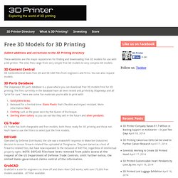 Free 3D Models for 3D Printing