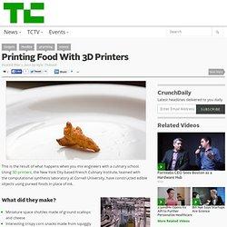 Printing Food With 3D Printers