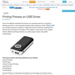 Printing process on usb drives