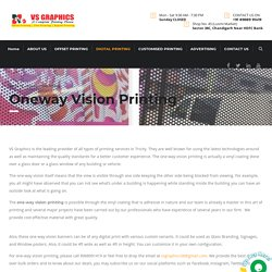One-way Vision Printing Service in Tricity