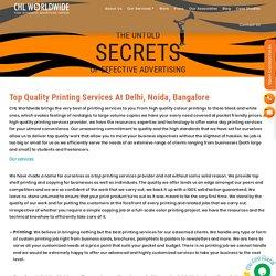 Printing Services in Delhi, Noida, Bangalore India